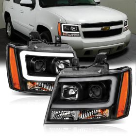 CHEVY TAHOE/SUBURBAN/AVALANCHE 07 PROJECTOR H.L G2 BLACK CLEAR AMBER