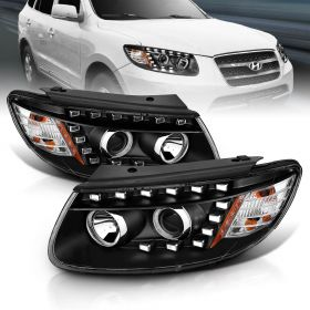 HYUNDAI SANTA FE 2007 BEFORE  '07-11-2007 PROJECTOR H.L BLACK AMBER ( NOT FIT FOR AFTER 7-11-2007,)