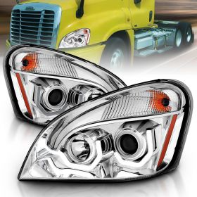 FREIGHTLINER CASCADIA 08-15 PROJECTOR PLANK STYLE H.L CHROME AMBER REFLECTOR