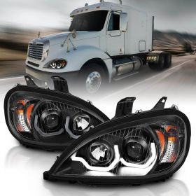 FREIGHTLINER COLUMBIA 04-15 PROJECTOR PLANK STYLE H.L BLACK AMBER REFLECTOR