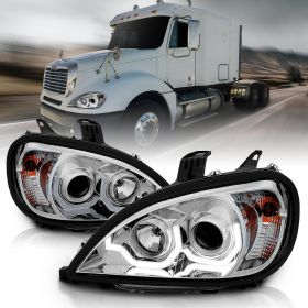 FREIGHTLINER COLUMBIA 04-15 PROJECTOR PLANK STYLE H.L CHROME AMBER REFLECTOR