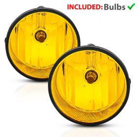 For 2005-2011 Toyota Tacoma/04-06 Solara Yellow Bumper Fog Lights Lamps Pair