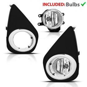 For 2015-2017 Toyota Yaris Fog Lights+Wiring Harness+Switch+Bracket 2016 Pair