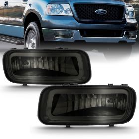 2004 2005 2006 Ford F-150 F150 Smoke Tint Fog Lights Front Driving Lamps Pair