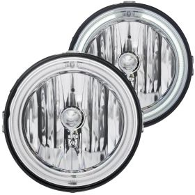 05-09 Ford Mustang CCFL Halo Ring Inner Driving Lights Chrome Clear Fog Lights