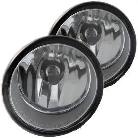 For 2009 2010 Pontiac Vibe Chrome Clear Factory Style Fog Lights Pair
