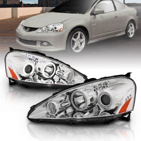 ACURA RSX 05-06 PROJECTOR H.L HALO CHROME CLEAR AMBER(CCFL)