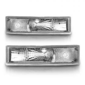 AmeriLite Bumper Lights Park/Signal Lights Euro For Chevy Astro Van - Passenger and Driver Side