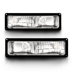 AmeriLite Pack/Signal Lights Black Frame For Chevy Full Size - Passenger and Driver Side