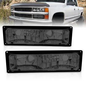 AmeriLite Replacement Packing Turn Signal Lights Smoke Pair For 88-98 Chevy Full Size - Passenger and Driver Side