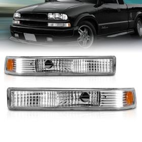 AmeriLite Parking/Signal Lights Euro Amber For Chevy S10 / Blazer - Passenger and Driver Side