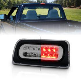 AmeriLite for 1994-2004 Chevy S-10 GMC Sonoma Smoke Full LED Replacement High Mount Stop Light 3rd Brake Lamp Assembly