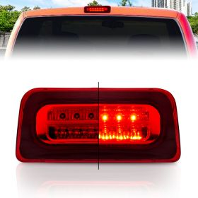 AmeriLite for 1994-2004 Chevy S-10 GMC Sonoma Red Full LED Replacement High Mount Stop Light 3rd Brake Lamp Assembly