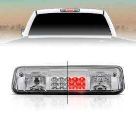 AmeriLite for 2004-2008 Ford F150 | 07-10 Explorer Sport | Lincoln Mark LT Chrome LED Cargo 3rd Brake Light Center High Mount Stop Lamp