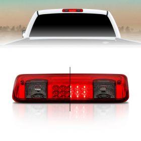 AmeriLite for 04-08 Ford F150 | 07-10 Explorer Sport | Lincoln Mark LT Red Smoke LED Cargo 3rd Brake Light Center High Mount Stop Lamp