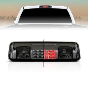AmeriLite for 2004-2008 Ford F150 | 07-10 Explorer Sport | Lincoln Mark LT Smoke Red LED Cargo 3rd Brake Light Center High Mount Stop Lamp