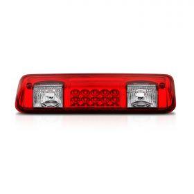 AmeriLite for 04-08 Ford F150 | 07-10 Explorer Sport | Lincoln Mark LT Red LED Cargo 3rd Brake Light Center High Mount Stop Lamp