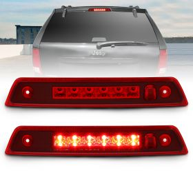 AmeriLite for 2005-2010 Jeep Grand Cherokee Clear Red Replacing LED 3rd Third Brake Light Cargo Lamp Assembly