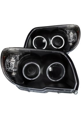 [CCFL Halo]For 2006-2009 Toyota 4Runner LED DRL Projector Black Headlights