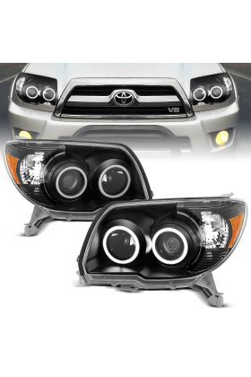TOYOTA 4 RUNNER 06-09 PROJECTOR H.L BLACK CLEAR (SUPER WHITE) AMBER