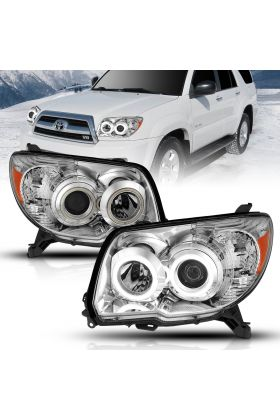 TOYOTA 4 RUNNER 06-09 PROJECTOR H.L CHROME CLEAR (SUPER WHITE) AMBER