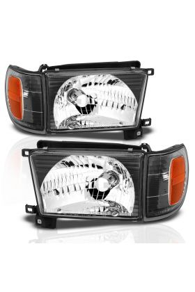 TOYOTA 4 RUNNER 99-02 H.L BLACK WITH C.L AMBER