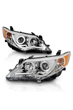 TOYOTA CAMRY 12-13 PROJCETOR H.L HALO CHROME CLEAR AMBER
