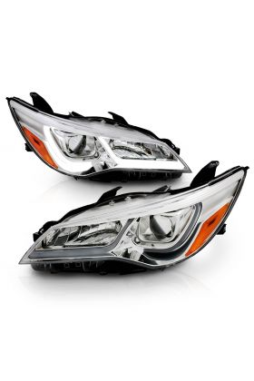 TOYOTA CAMRY 15-16 4DR PROJCETOR PLANK STYLE H.L. CHROME AMBER