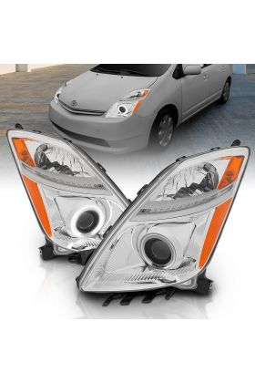 TOYOTA PRIUS 04-09 PROJECTOR HL HALO CHROME CLEAR AMBER (CCFL)