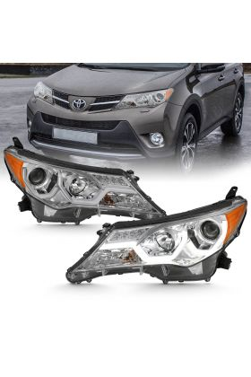 TOYOTA RAV-4 2013 UP PROJECTOR PLANK STYLE H.L CHROME CLEAR AMBER
