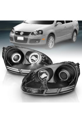 VOLKSWAGEN RABBIT(GOLF)06-09/JETTA GEN5 05-09/WAGON 09  HL HALO BLACK CLEAR(CCFL)