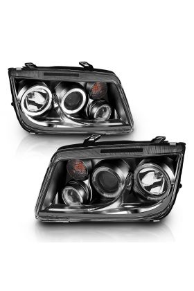VOLKSWAGAN JETTA 99-05 PROJECTOR H.L BLACK HALO CLEAR (W/ FOG LIGHTS)