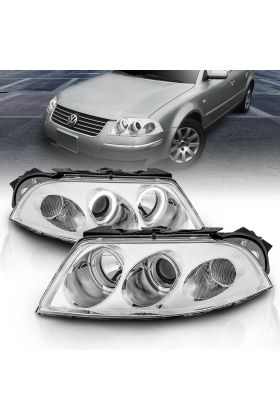 VOLKSWAGEN PASSAT 01-05 G2 PROJECTOR H.L HALO CHROME CLEAR