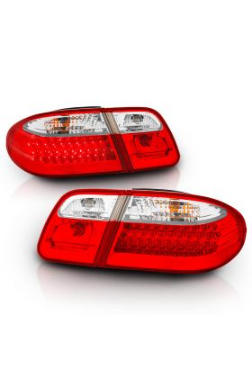 MBZ E CLASS W210 95-03 LED T.L RED/CLEAR (WAVE)
