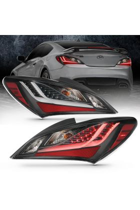 For 2010-2016 Hyundai Genesis Coupe Black LED Taillights Pairs
