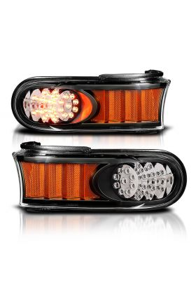 TOYOTA FJ CRUISER 07-10 L.E.D PARKING LIGHTS BLACK AMBER