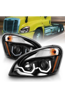 FREIGHTLINER CASCADIA 08-15 PROJECTOR PLANK STYLE H.L BLACK AMBER REFLECTOR