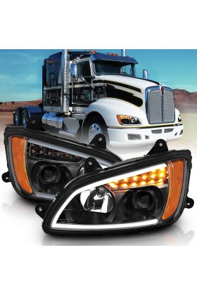 Kenworth T660 08 UP  PROJECTOR PLANK STYLE H.L BLACK AMBER REFLECTOR