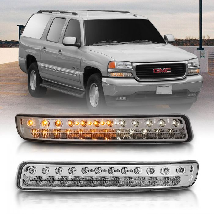 G.M.C YUKON/YUKON 00-06 /SIERRA 99-06 L.E.D PARKING LIGHTS ALL CHROME AMBER